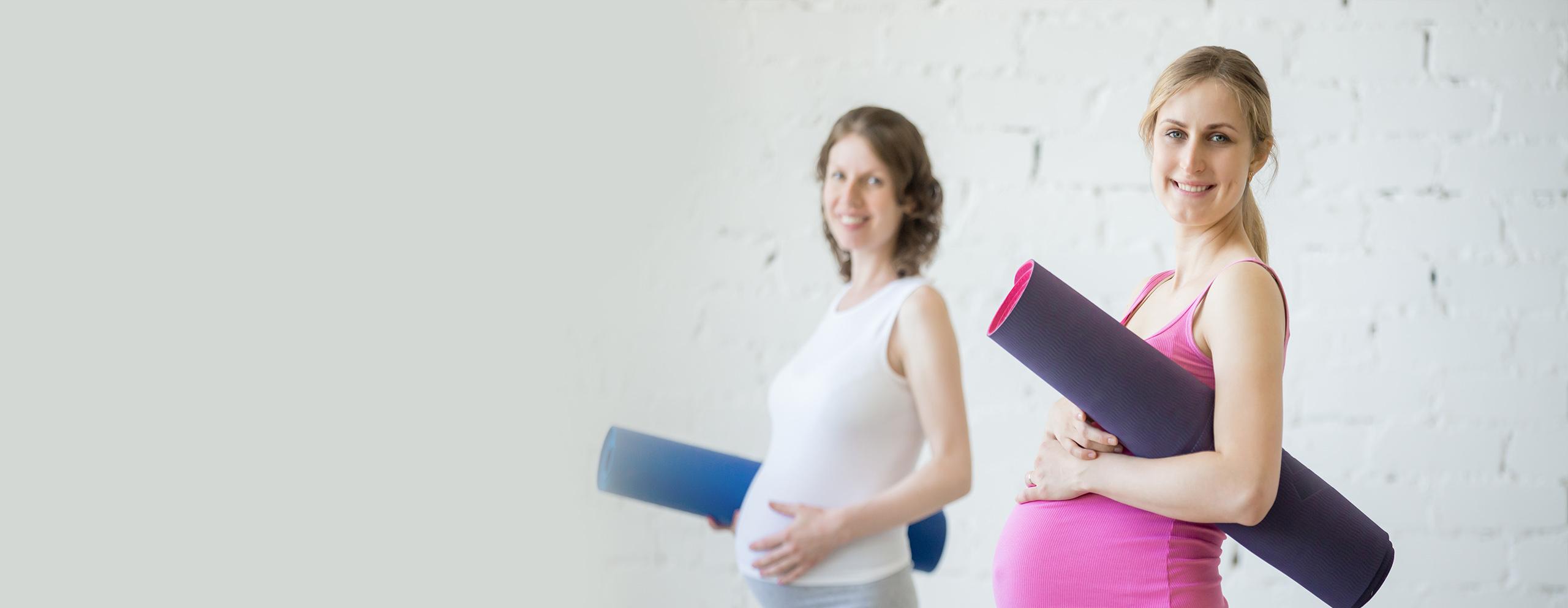 Doğuma hazırlık ve gebelik sürecine destek için gerekli gerekli gebelik eğitimini alan 2 anne adayı